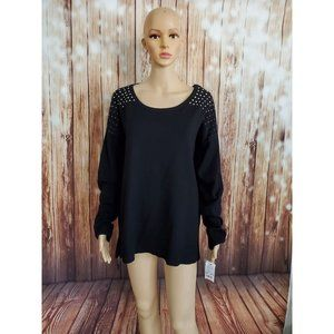NY Collection Sweater XL Black